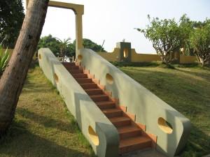 19. stairway by pool
