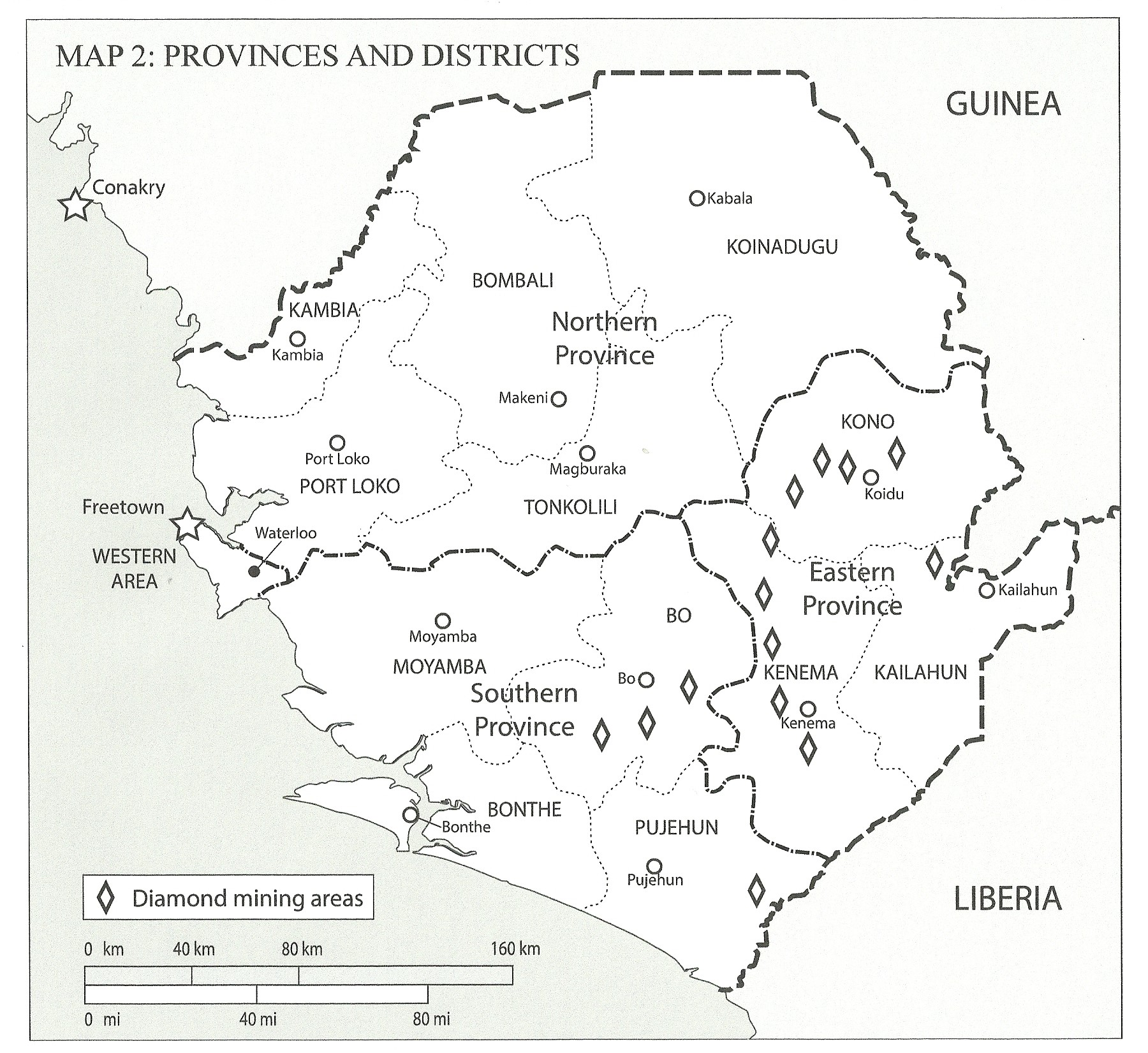 Sierra Leone Maps Sierra Leone Inside the War