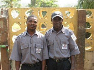 5. guards at the entrance